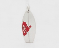 Hibiscus Surfboard (Large) Pendant