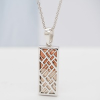 Aromatherapy Rectangle Pendant