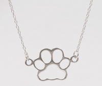 Dog Paw Cutout  (16-2in -41-5cm-) Necklace