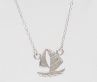 Sailboat (16-2in -41-5cm-) Necklace