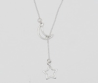 Star & Moon Cutout (18-2 in -46-5cm-) Necklace
