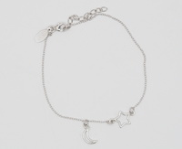 Star & Moon Cutout (17-3cm -6.7-1.2in-) Bracelet