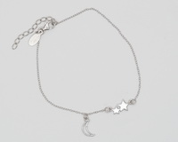 Double Star & Moon Cutout (17-3cm -6.7-1.2in-) Bracelet