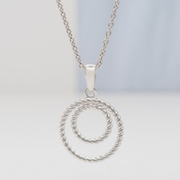 Roped Double Circles Pendant