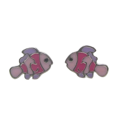 Pink Clownfish (10mm) Earrings