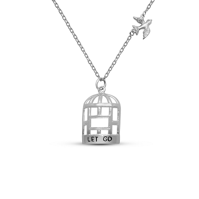 Let Go Bird & Cage (75-3cm -30in-) Necklace