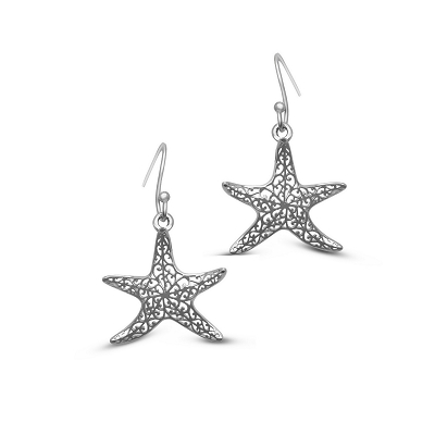 Filigree Starfish Earrings