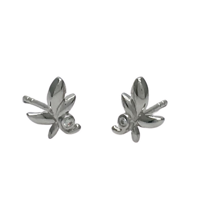 Clear Leaves Earrings