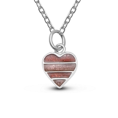 Ribbon Heart Pendant
