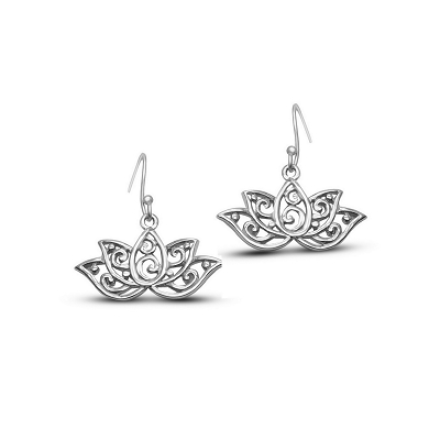 Boho Lotus Flowers Earrings
