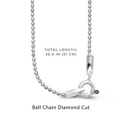 Diamond Cut Ball Chain Necklaces