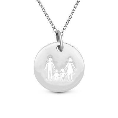 Family of 4 Coin Pendant