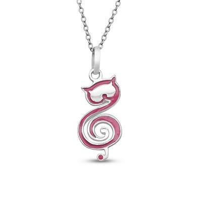 Music Note Cat Pendant