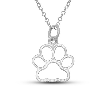 Dog Paw Cutout Pendant