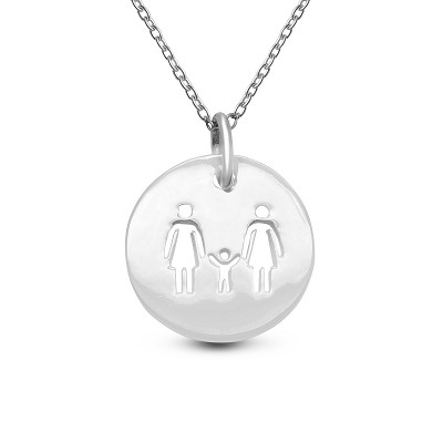 Rainbow Family of 3 Coin Pendant
