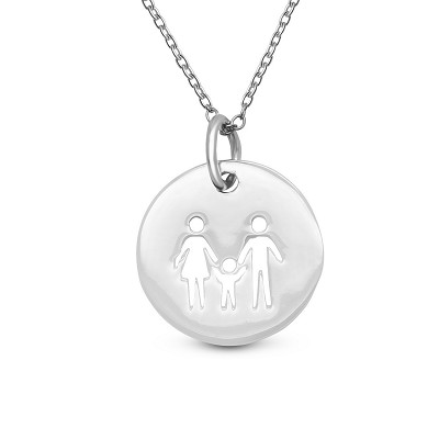 Family of 3 Coin Pendant