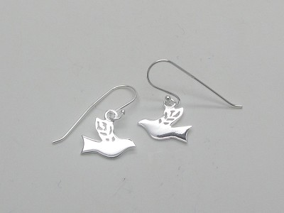 Dove with Olive Leaf Wings - Earrings