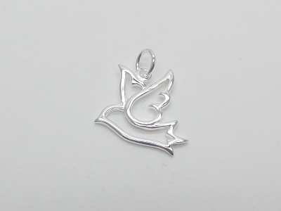 Cutout Dove Pendant
