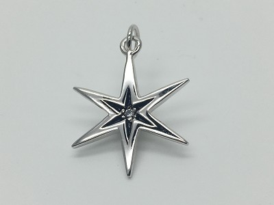 Clear Star Burst Pendant