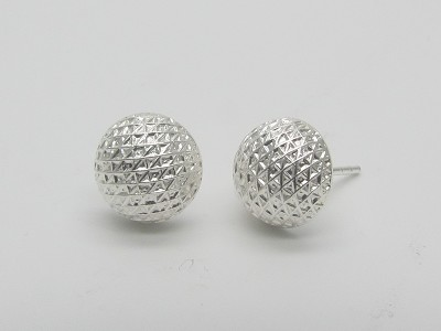 Nest Half Dome (9mm) Earrings