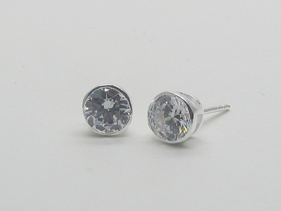 6mm Solitaire Earrings