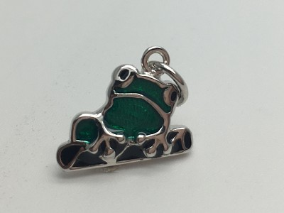 Green-Black Frog Pendant