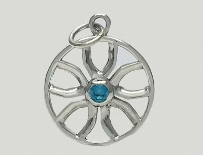Blue Flower Power Pendant