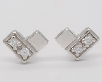 Square Hearts - Earrings