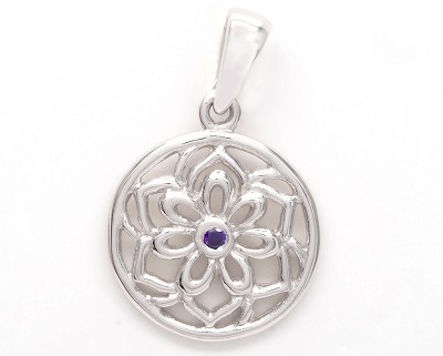 Stained Glass Flower Pendant