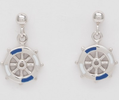 Nautical Wheels Earrings